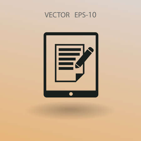 touchpad: touchpad notes icon. vector illustration