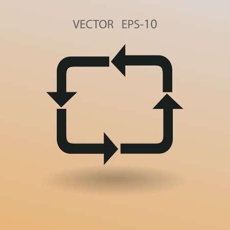 icone plat de cyclique. illustration vectorielle