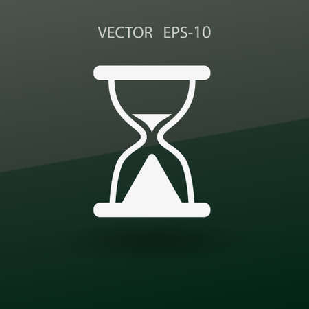 Flat icon of hourglass. vector illustration Illustration