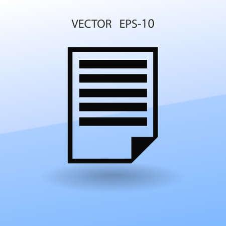 writing pad: Flat icon of notes. vector illustration Illustration