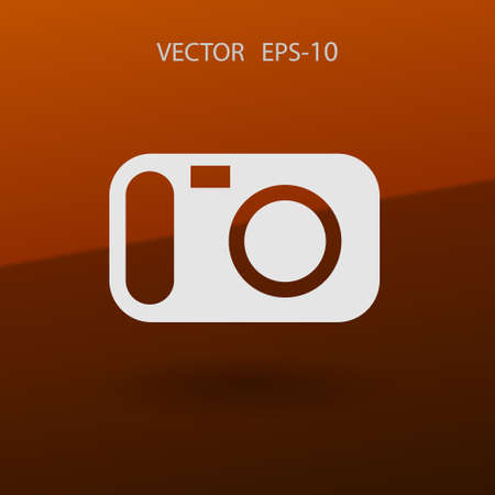 Flat icon of a camera. vector illustration Illustration