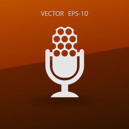 microphone icon. vector illustration
