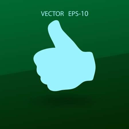 validate: Flat icon of ok. vector illustration