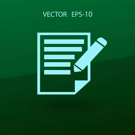 writing pad: Flat  icon of notes. vector illustration