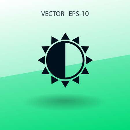 icono de brillo. ilustración vectorial Ilustración de vector