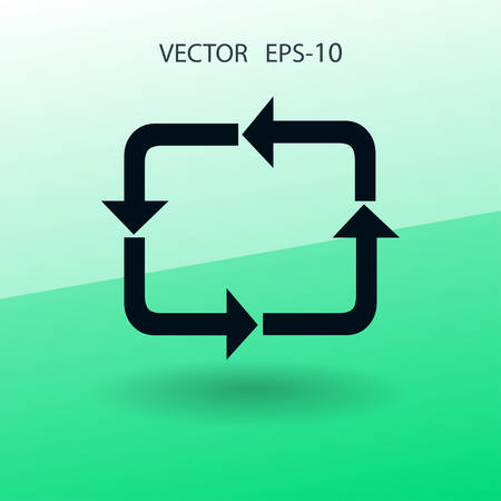 cíclico: Flat icon of cyclic. vector illustration
