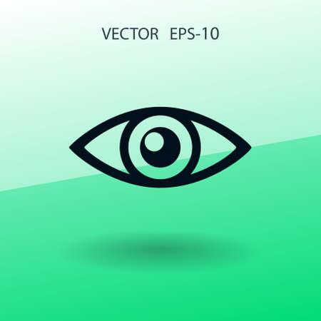 Flat icon of supervision. vector illustration Illustration