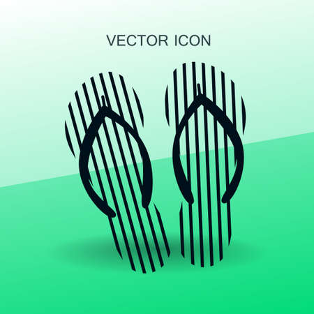 flops: Flip flops icon vector illustration Illustration