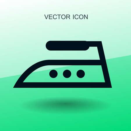 smoothing: steam iron icon vector illustration Illustration