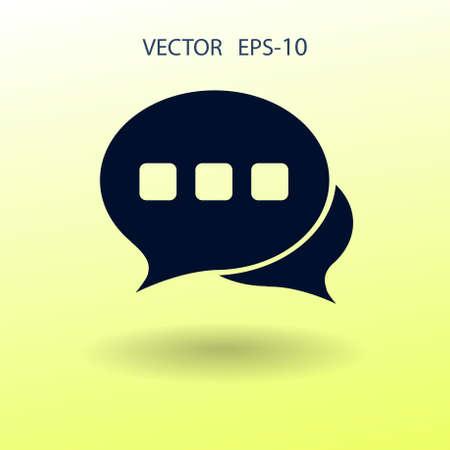 tell: Flat  icon of a communication. vector illustration Illustration