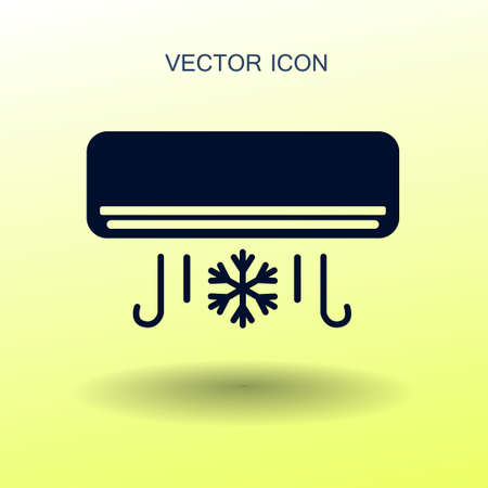 energetics: cooling air conditioner works vector illustration