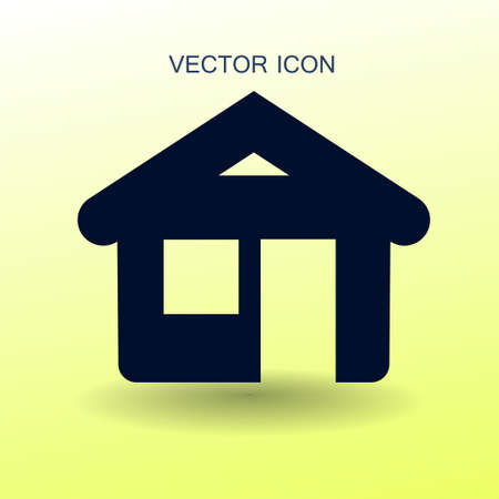 abode: home icon vector illustration