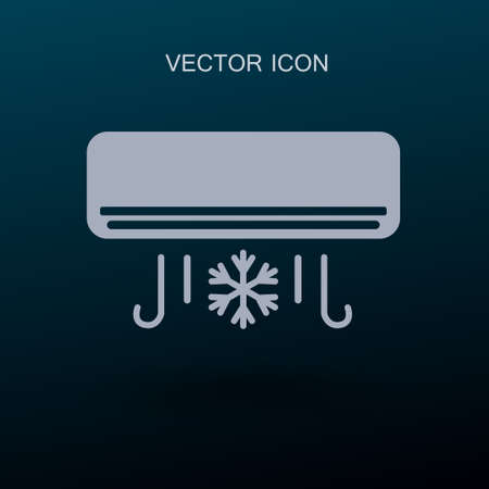 cooling air conditioner works vector illustration