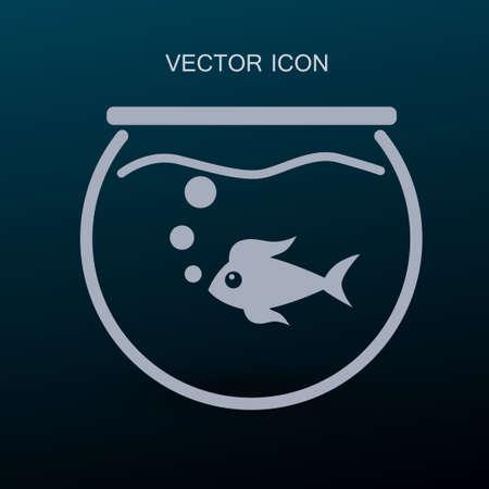 fishtank: Aquarium and fish vector icon Illustration