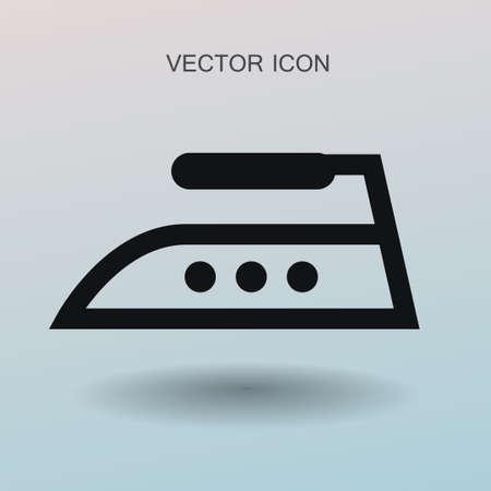 Icône de fer à vapeur illustration vectorielle Vecteurs