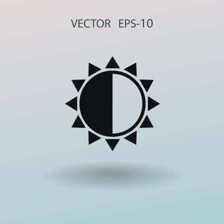 Brightness icon. vector illustration