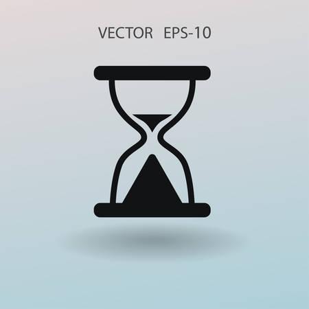Flat icon of hourglass. vector illustration Illustration
