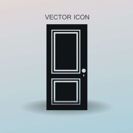 approach: closed door vector illustration