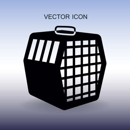 transporting the animals in a cage vector Vectores