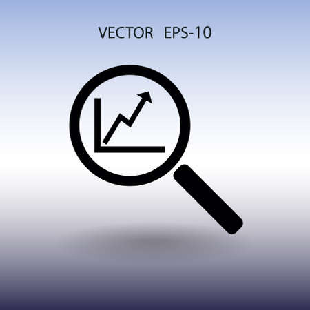 magnify: SEO icon. vector illustration