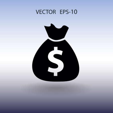 Flat icon of money. vector illustration Illustration