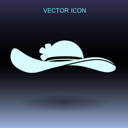 hatband: Female hat icon. vector illustration