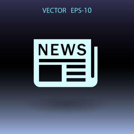 newsprint: Flat  icon of news. vector illustration