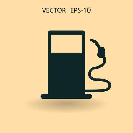 unleaded: Flat fuel icon. Vector Illustration
