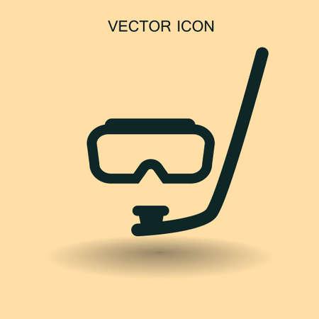 swimming glasses: Diving mask vector icon illustration Illustration
