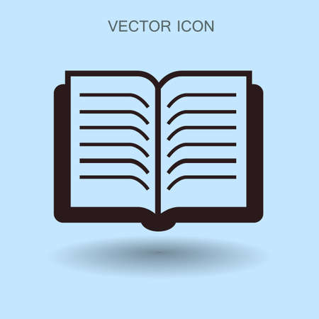 electronic publishing: The litle book vector illustration