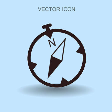 latitude: Flat compass icon. vector illustration