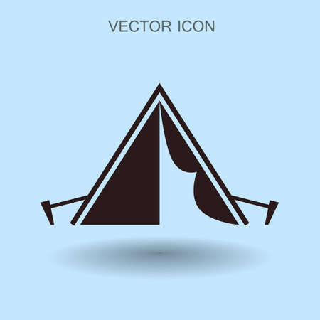 scouting: Tourist tent vector illustration