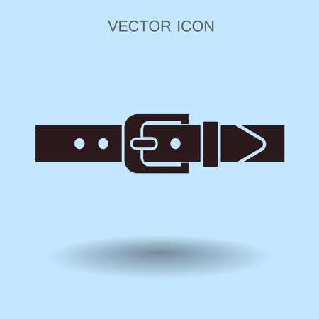 waistband: belt buckle vector illustration