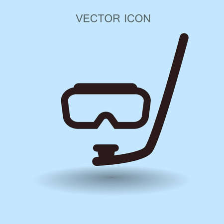 Diving mask vector icon illustration Illustration