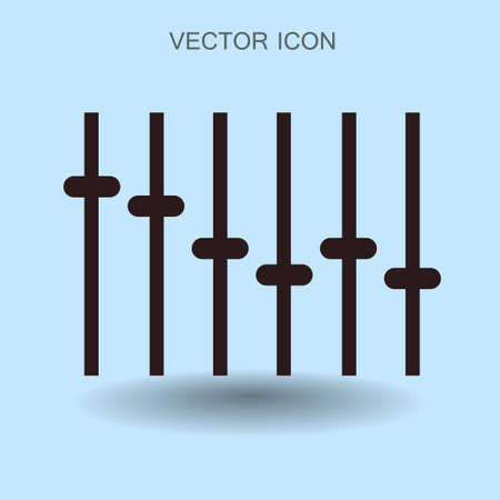 volume knob: equalizer in retro style vector illustration