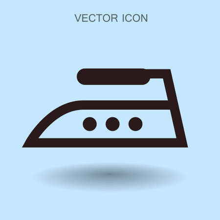 steam iron: steam iron icon vector illustration Illustration