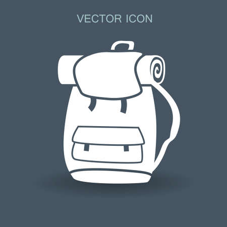 Backpack vector illustration