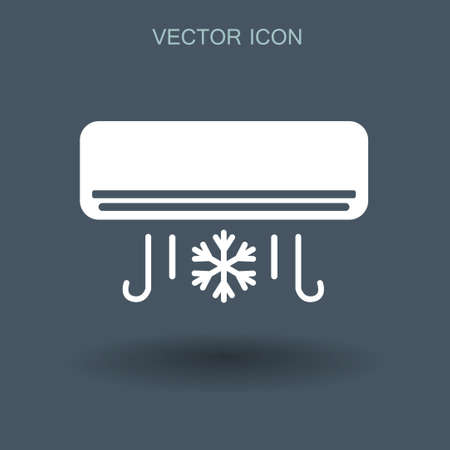 swill: cooling air conditioner works vector illustration