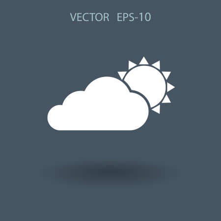 weekly: weather icon. vector illustration