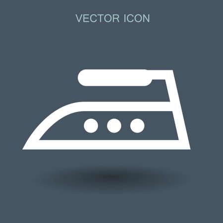 steam iron: steam iron icon vector illustration Illustration