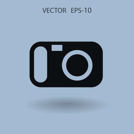 Flat icon of a camera. vector illustration Illustration