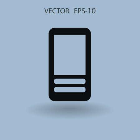 cellphone: Flat  icon of cellphone. vector illustration Illustration