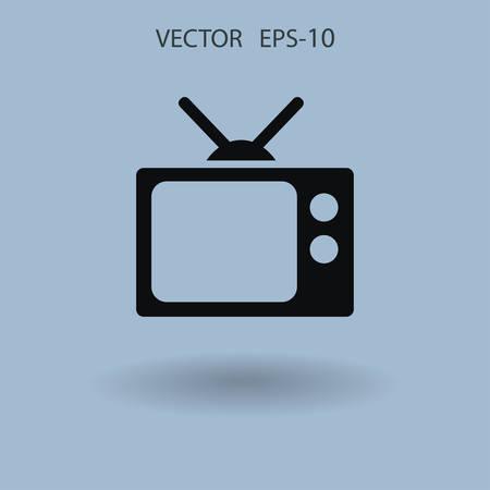 Flat icon of tv. vector illustration Иллюстрация