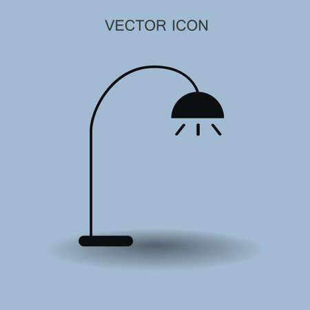 Floor lamp icon vector illustration