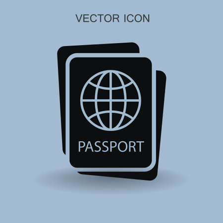 Passport icon vector illustration Illustration
