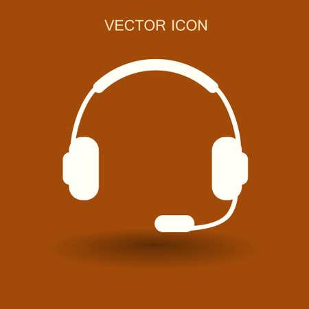 portable audio: Headphones icon. vector illustration