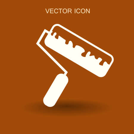 roller painting icon vector illustration Illustration