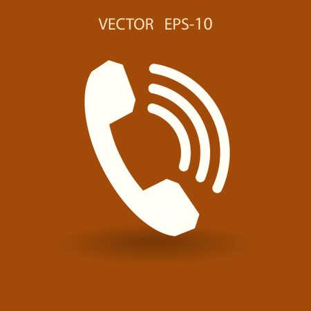 Flat icon of a phone. vector illustration Illustration