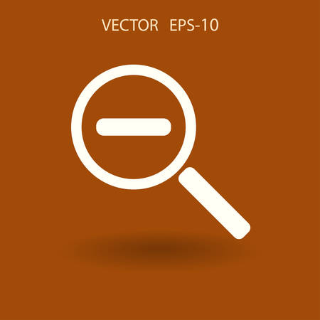 Zoom out icon. vector illustration
