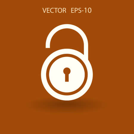 Flat icon of unlock. vector illustration Illustration